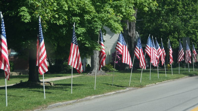 Flags Lining Street